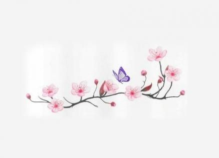 63+ Trendy ideas for tattoo foot butterfly cherry blossoms