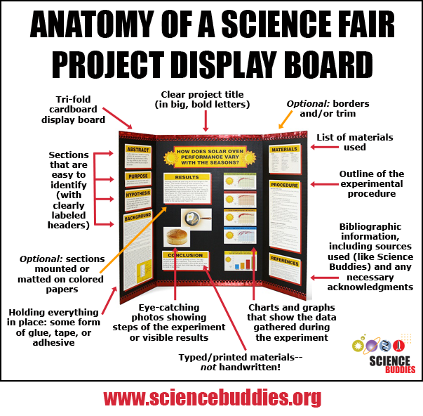 The project display board is a key part of the science for Science fair labels templates