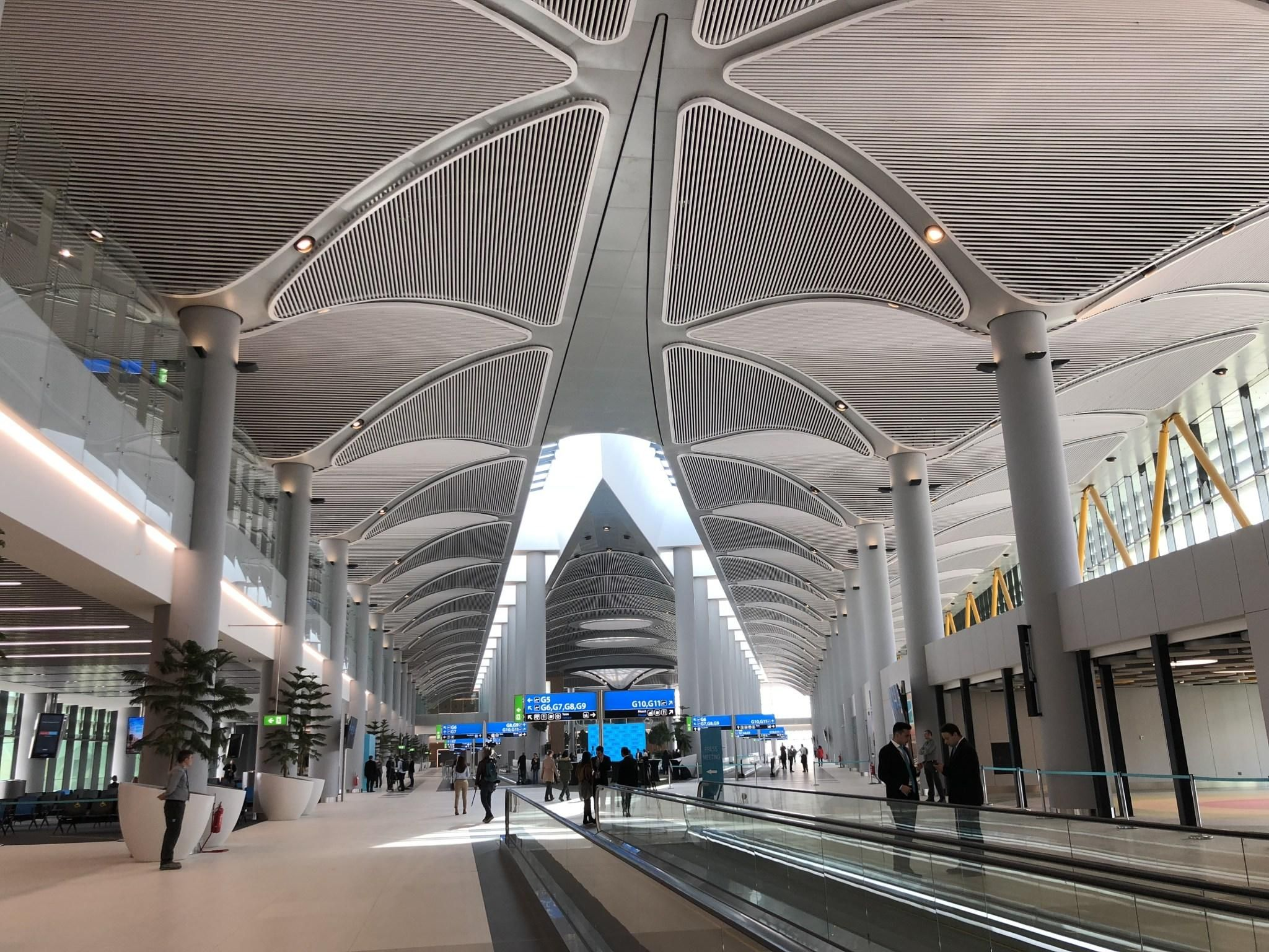 Terminal Of Istanbul New Airport 2018 2048 X 1536 Istanbul New Airport Airport Design Istanbul Airport