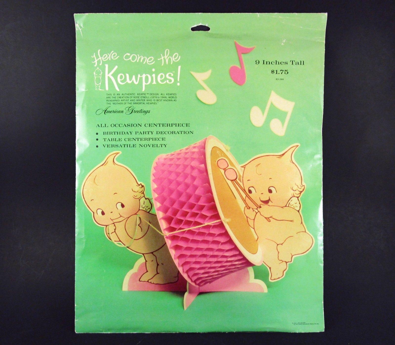 Rare Kewpies Honeycomb Drum Centerpiece 1973 American Greetings
