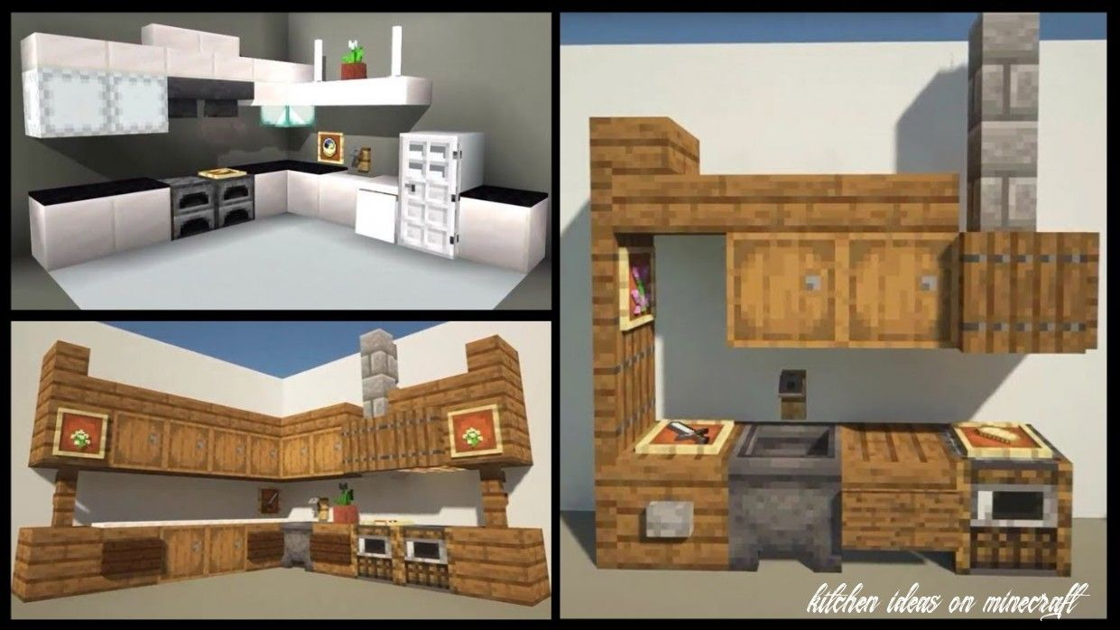 6 Kitchen Ideas On Minecraft In 2020 Minecraft Kitchen Ideas Minecraft Interior Design Minecraft Construction