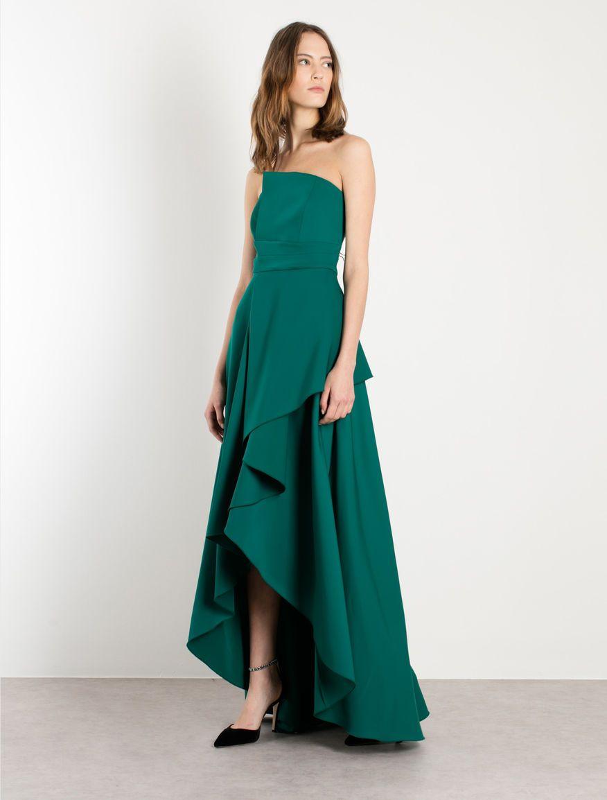 Abiti Eleganti Marella.Abito A Bustier Verde Smeraldo Marella Abiti Vestiti Stili