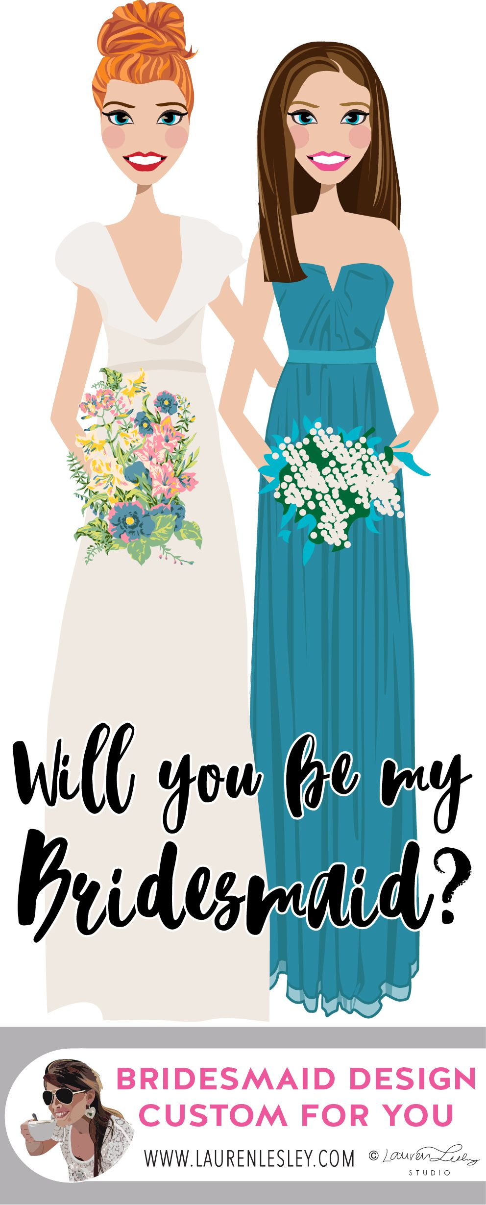 Will you be my bridesmaid Personalized Custom Maid of Honor