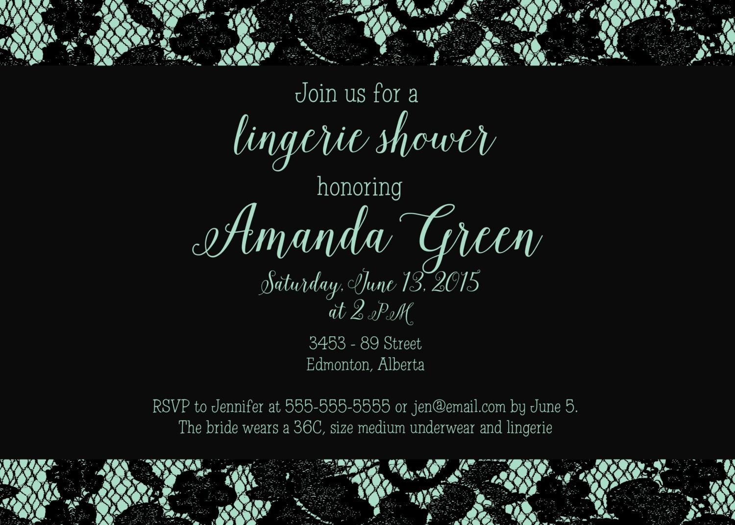 love this classy lingerie shower invitation printable classy