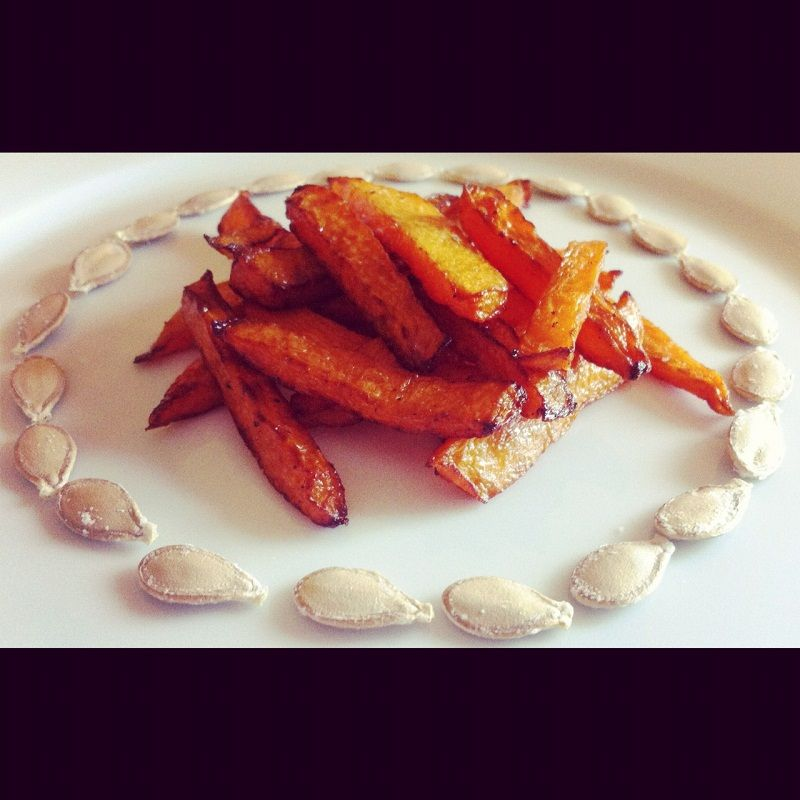 Semi di zucca tostati al forno e chips croccanti - Roasted #pumpkin Seed for #Halloween