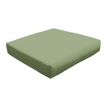 Photo of TK Classics Indoor/Outdoor Ottoman Cushion Fabric: Quick – Dry Foam/Acrylic in Cilantro, Size 6″ H x 28″ W x 28″ D   Wayfair