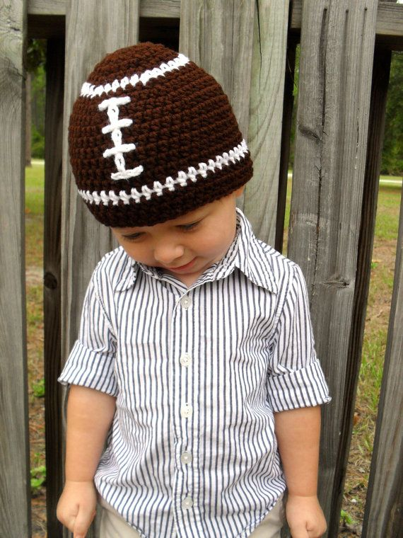 My daughter Brittney makes these adorable crochet beanies for children.  How cute is this football beanie! Check out her new Etsy shop!