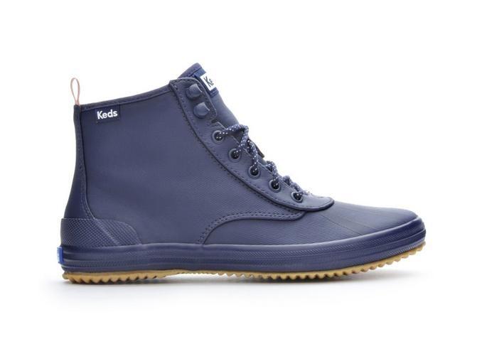 Women's Keds Scout Splash WX Duck Boots Navy, Size 7.5