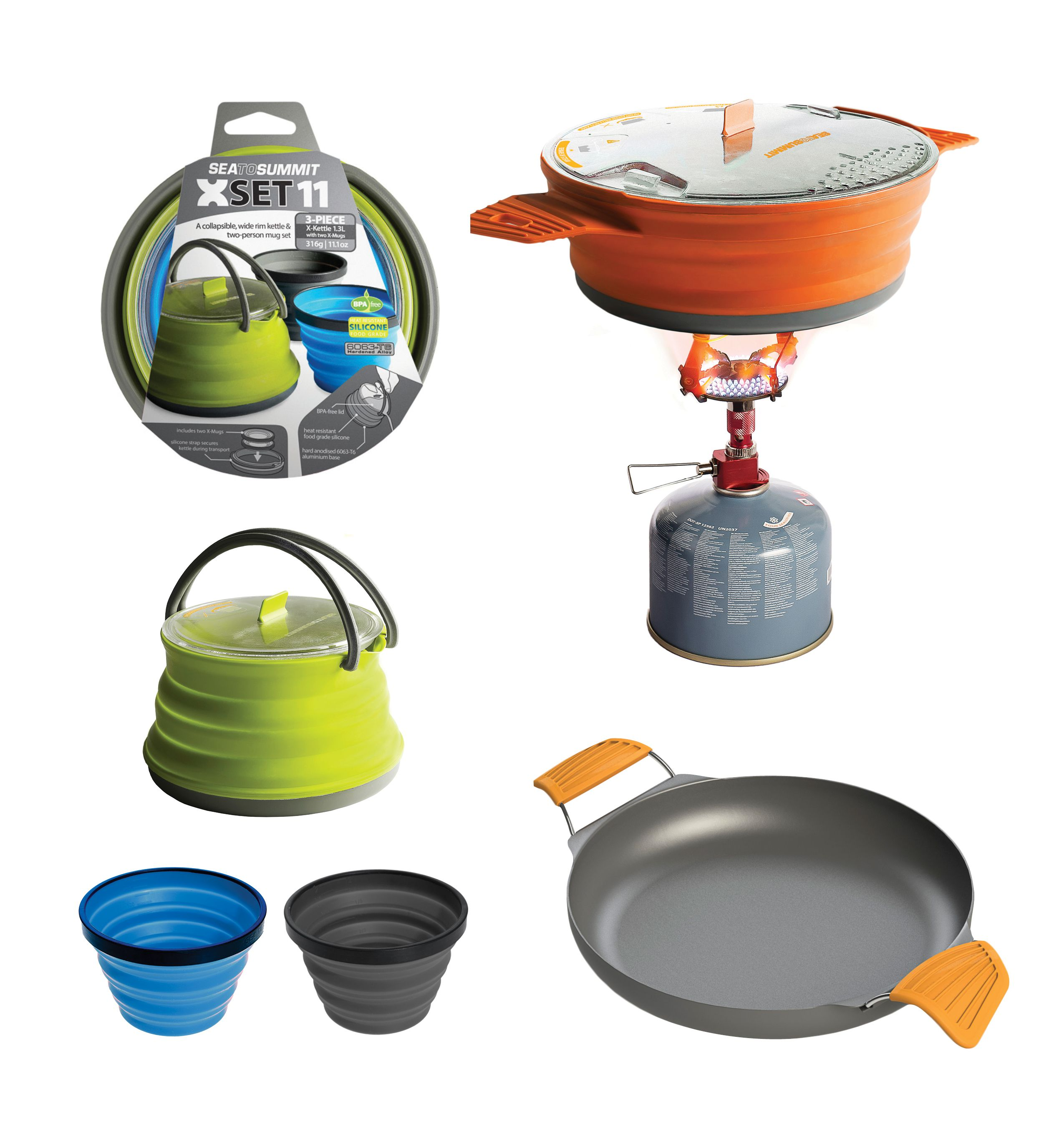 x series l collapsible cookware l camp kitchen l backpackers dream l