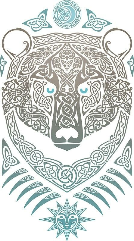 Bear In Fine Celtic Detail Celtic Art Viking Art Nordic Tattoo