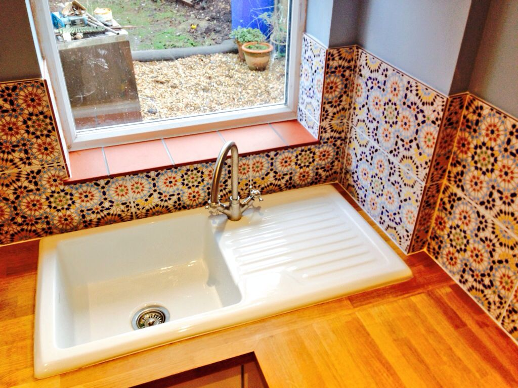 Mexican Tile Kitchen Handmade Mexican Tile Splashbacks Fitted Including Terracotta