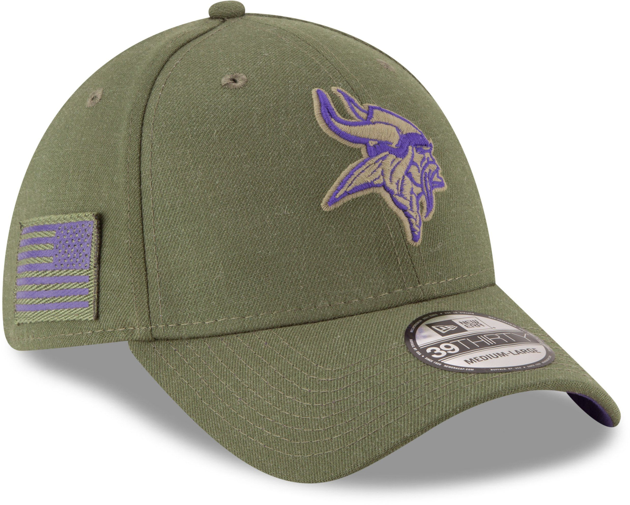 873248a1 Minnesota Vikings New Era 3930 NFL On Field 2018 STS Stretch Fit Cap ...