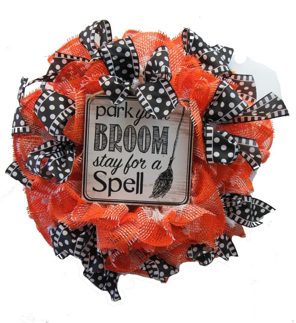 2017 paper mesh halloween wreath tutorial halloween signs easy 2017 paper mesh halloween wreath tutorial baditri Images