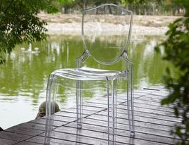 DH: (4) Of These Ghost Chairs From Overstock With CB2 White Chairs And