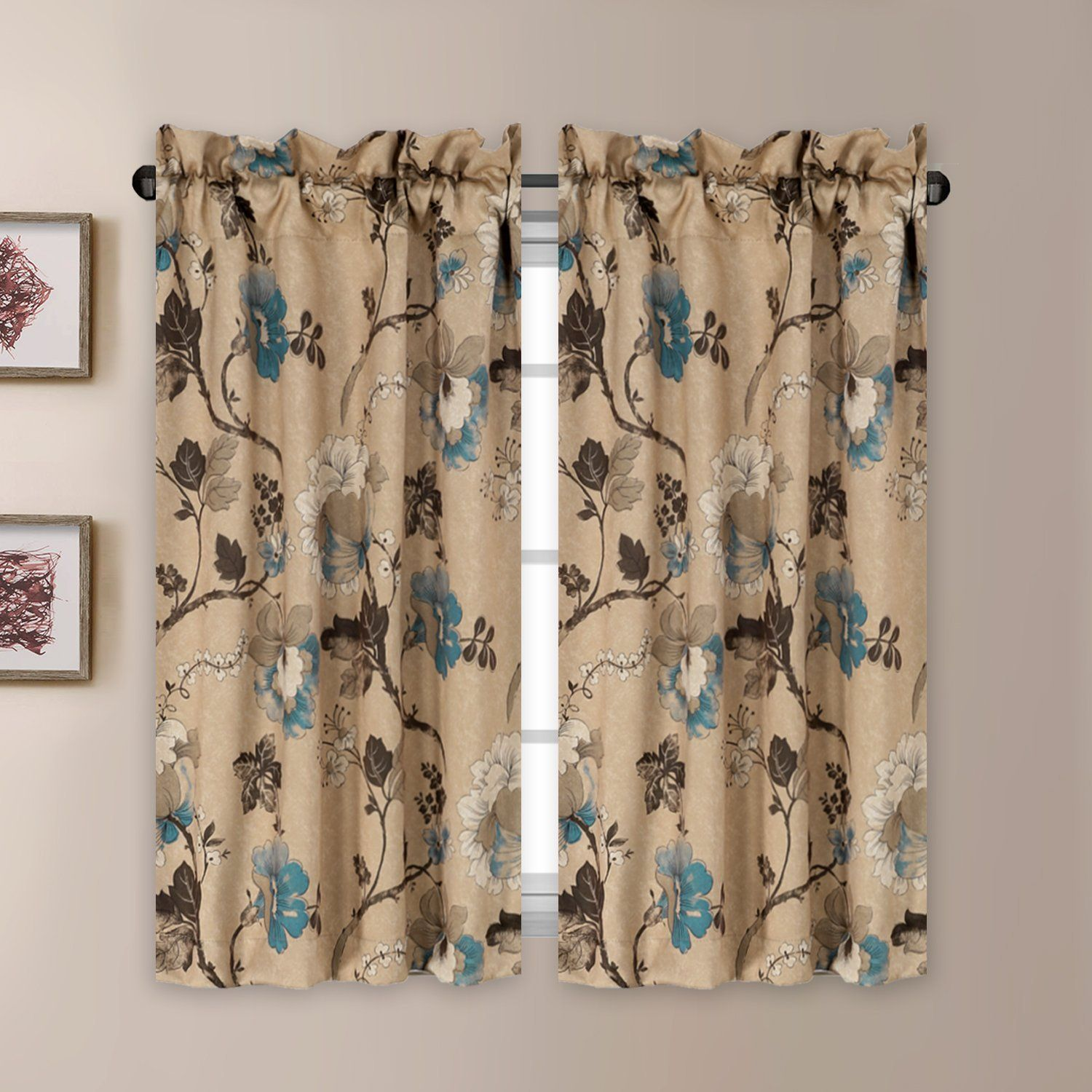 Thermal Insulated Elegant Curtain Drapes Room Darkening ...