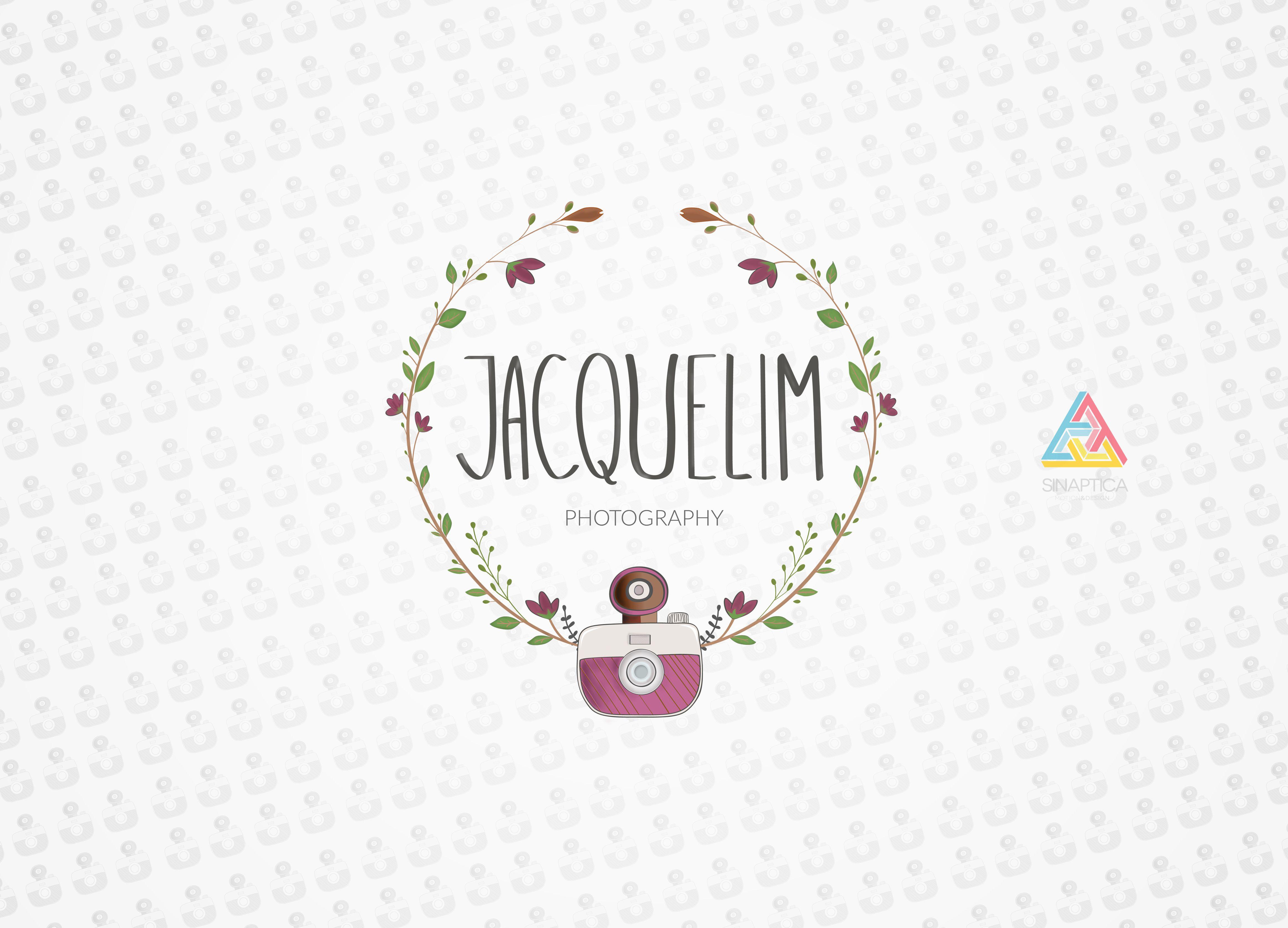 """Identidad de """"Jaquelim Photography"""". www.facebook.com/Jacquelim-Audiovisuales"""
