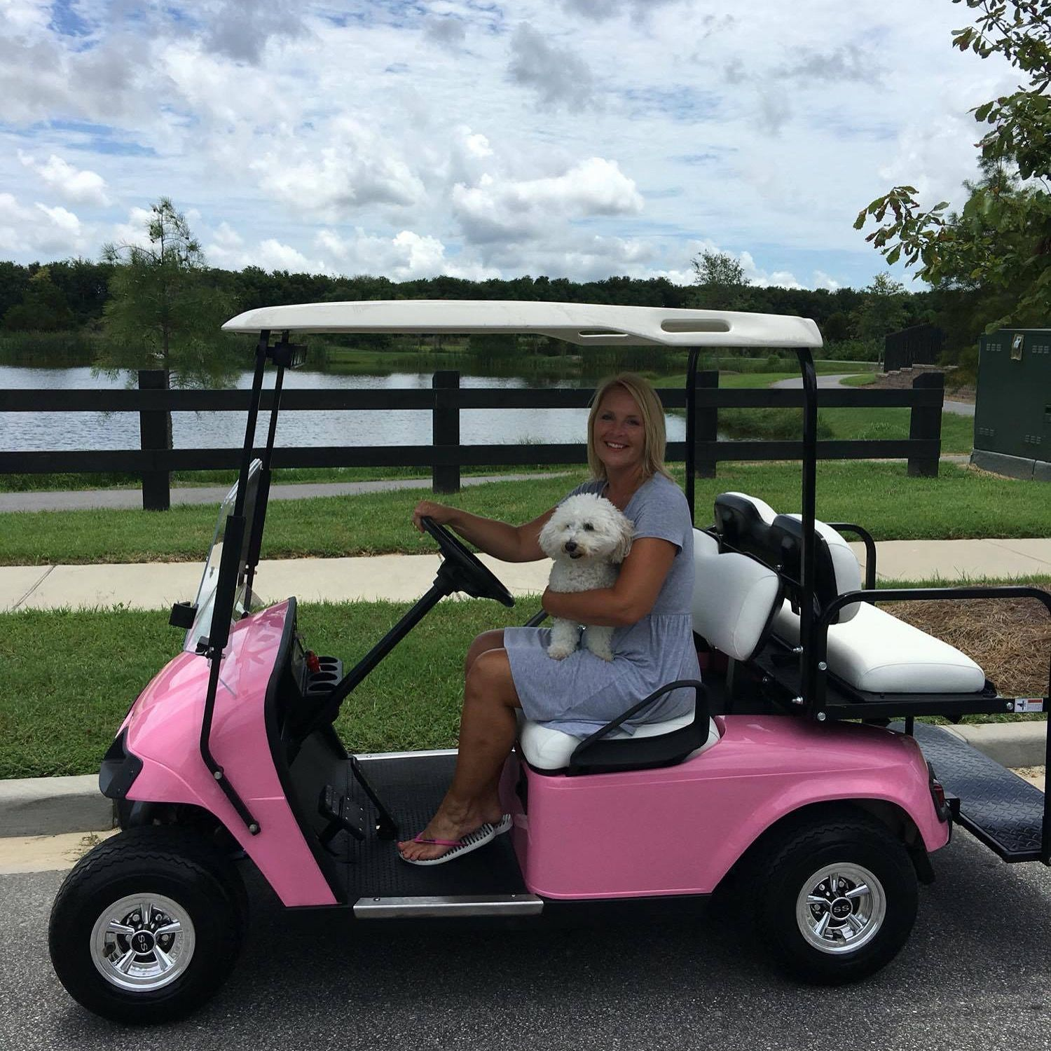 "Custom ""Barbie Cart"" EZGO Stylish Golf Cart Customizations"