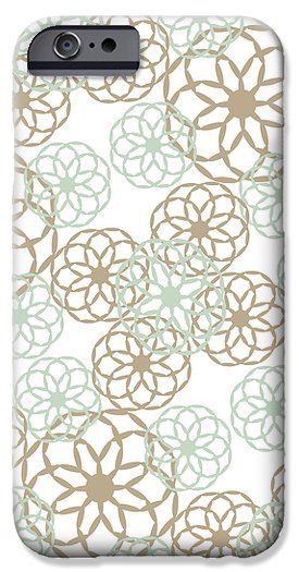 Brown And Green Floral Pattern iPhone 6 Case by Christina Rollo.  Protect your iPhone 6 with an impact-resistant, slim-profile, hard-shell case.  The image is printed directly onto the case and wrapped around the edges for a beautiful presentation.  Simply snap the case onto your iPhone 6 for instant protection and direct access to all of the phones features!