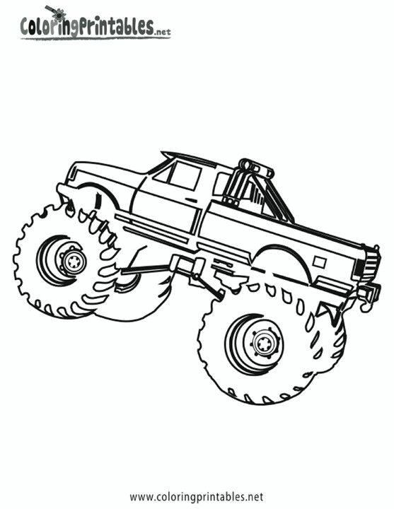 Monster Truck Coloring Page Malvorlagen Monster Truck Malvorlagen Fur Kinder
