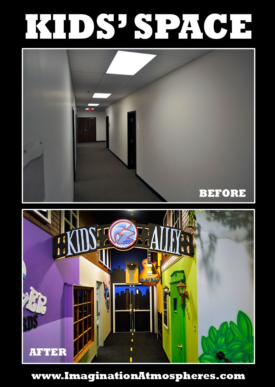 Transforming kids' spaces! www.ImaginationAtmospheres.com #churchitems