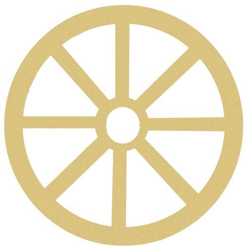 DIY Wagon Wheel Unfinished Cutout Paintable Wooden Wagon Wheels ...