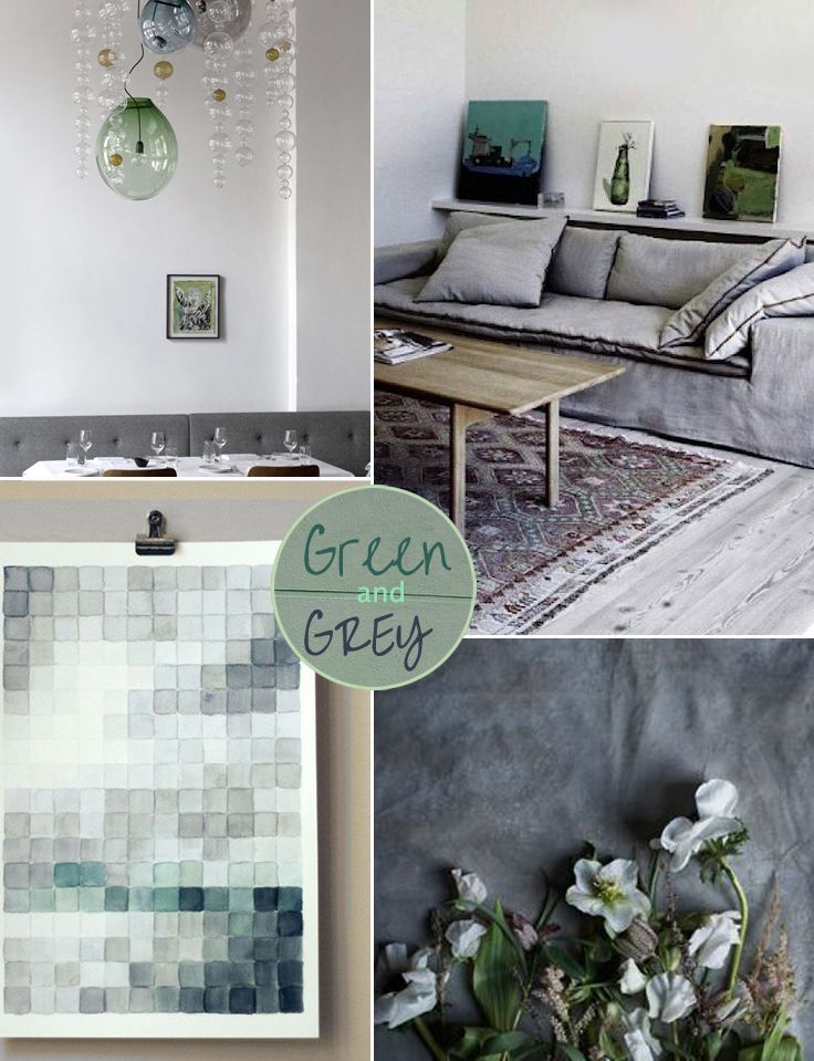 Green grey moodboard the olive tree shop home stuff for Raumgestaltung vintage