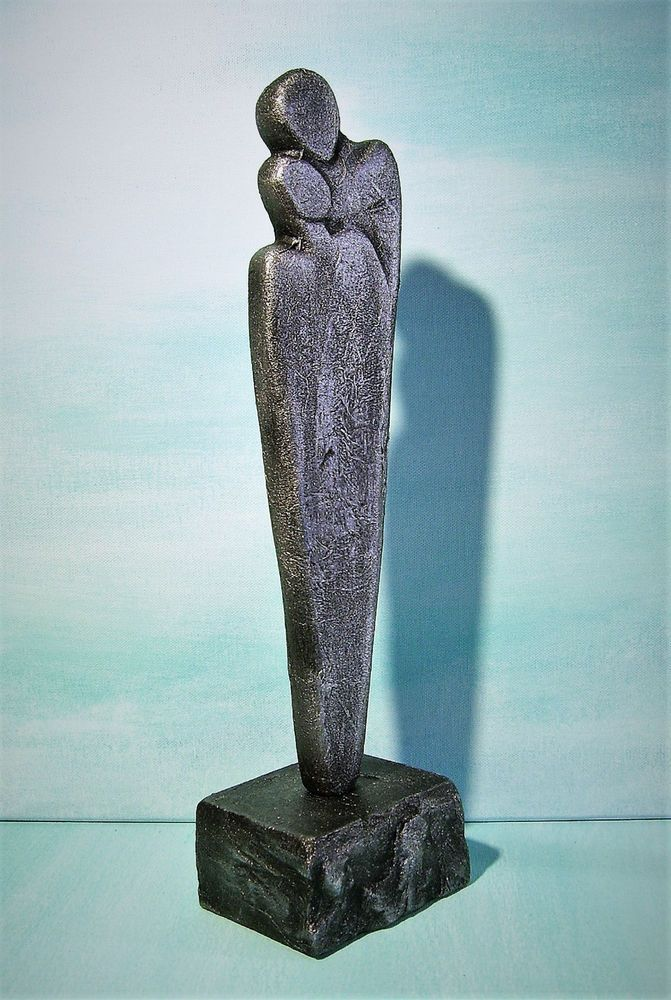 Kunstgalerie Winkler Skulptur Silber Paar Deco Figur Abstrakt - moderne skulpturen wohnzimmer