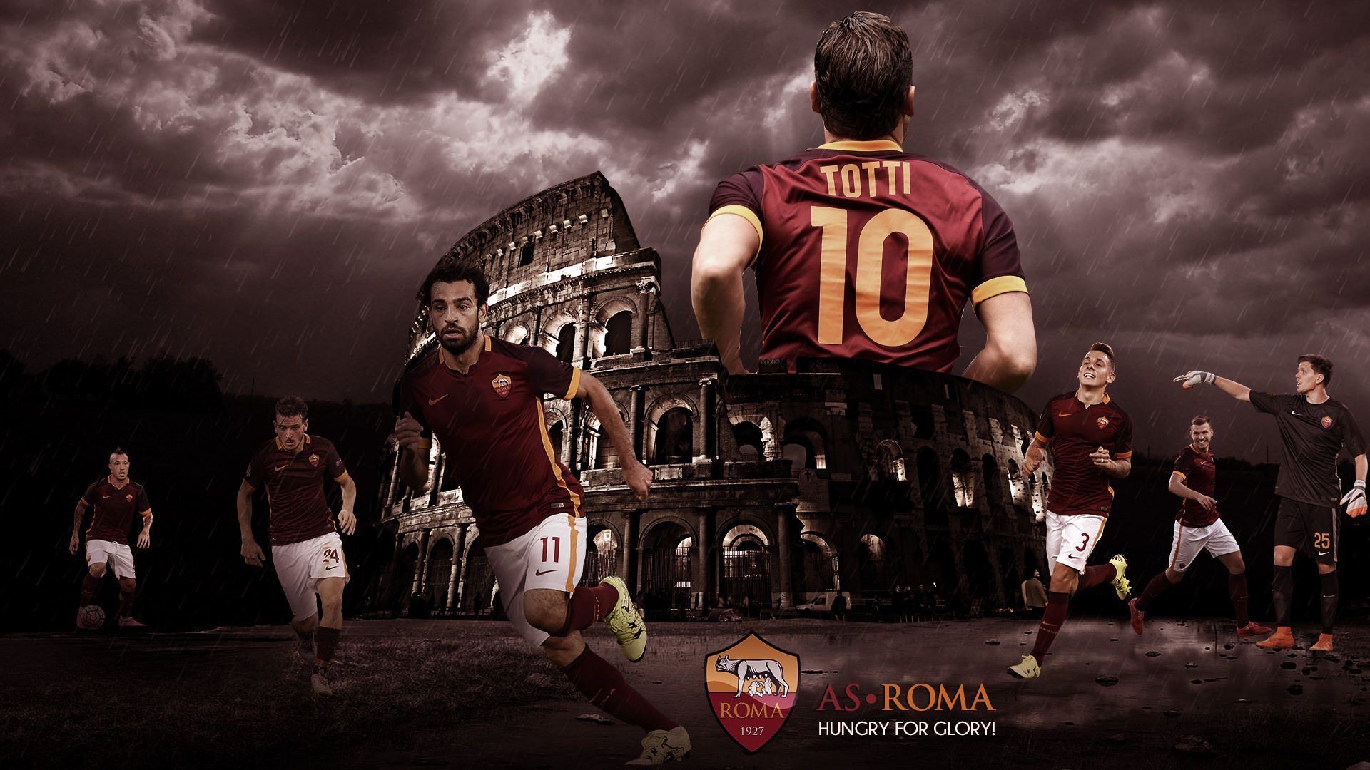 Francesco Totti AS Roma 2015 2016 Wallpaper