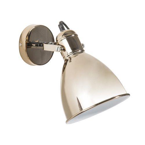 Applique en métal argent rosé H 23 cm IZIA Industriel