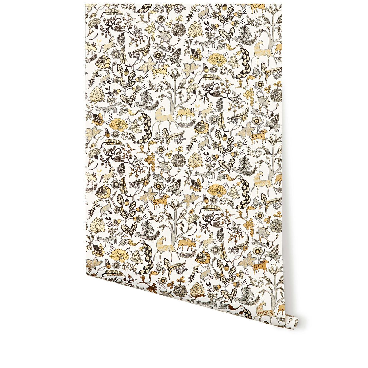 Foret Wallpaper Gold Hygge and west, Gold wallpaper