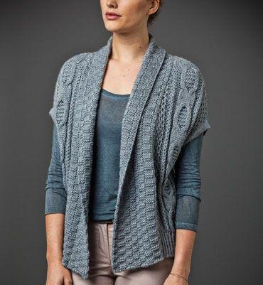 modele tricot gilet col chale