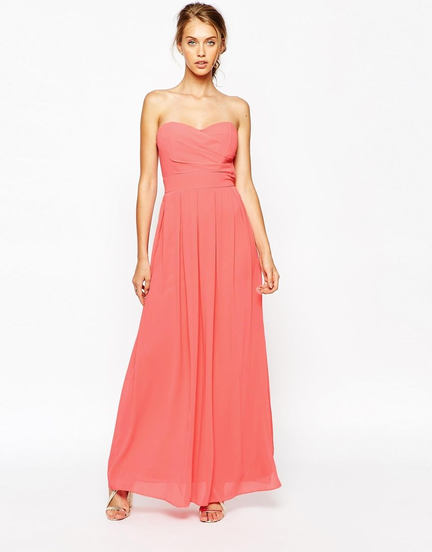 39c4283dfb40 TFNC Maxi Dress With Pleated Bust | Wedding - Bridesmaid Dresses ...