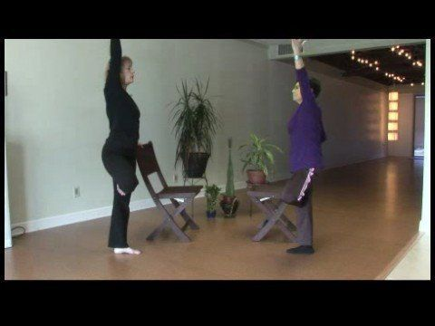 chair yoga for seniors  chair yoga for seniors tree pose
