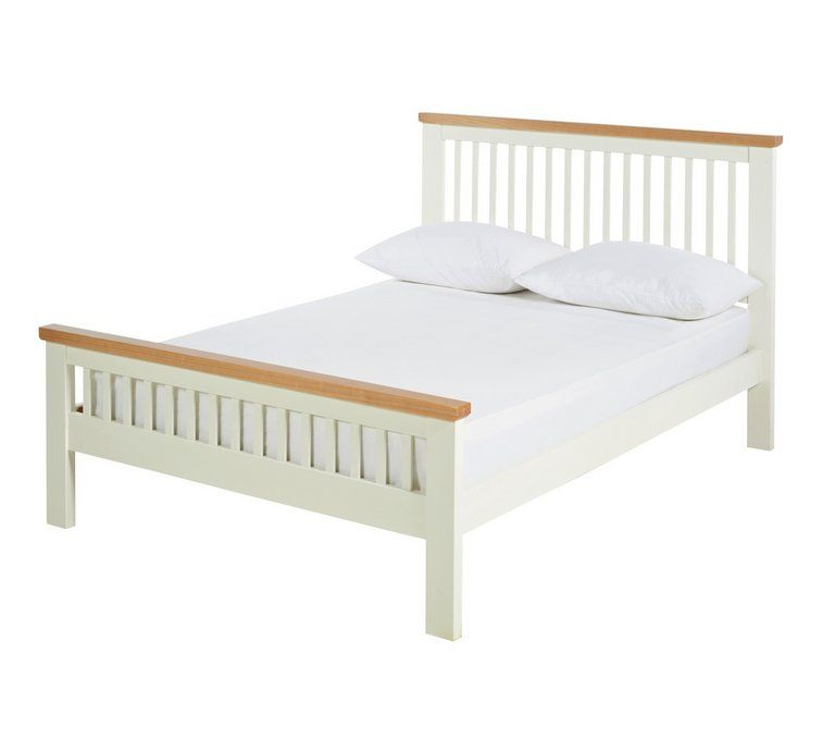 Buy Argos Home Aubrey Double Bed Frame - Two Tone   Bed ...