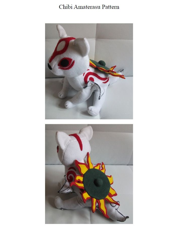 Pattern: Chibi Amaterasu - Okami by ~MarlinGrey on deviantART | DIY ...