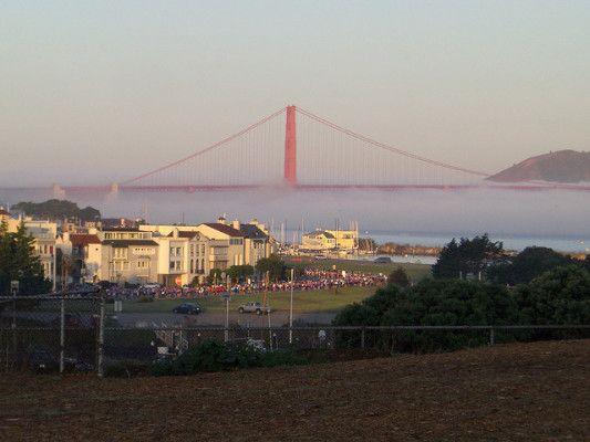 Runners in the distance at the Nike Women's Marathon & Half San Francisco. (Photo by Burt/flickr)
