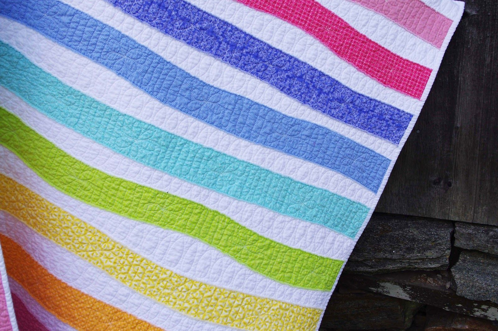 Ahhh...Quilting: Rainbow Stripes Baby Quilt