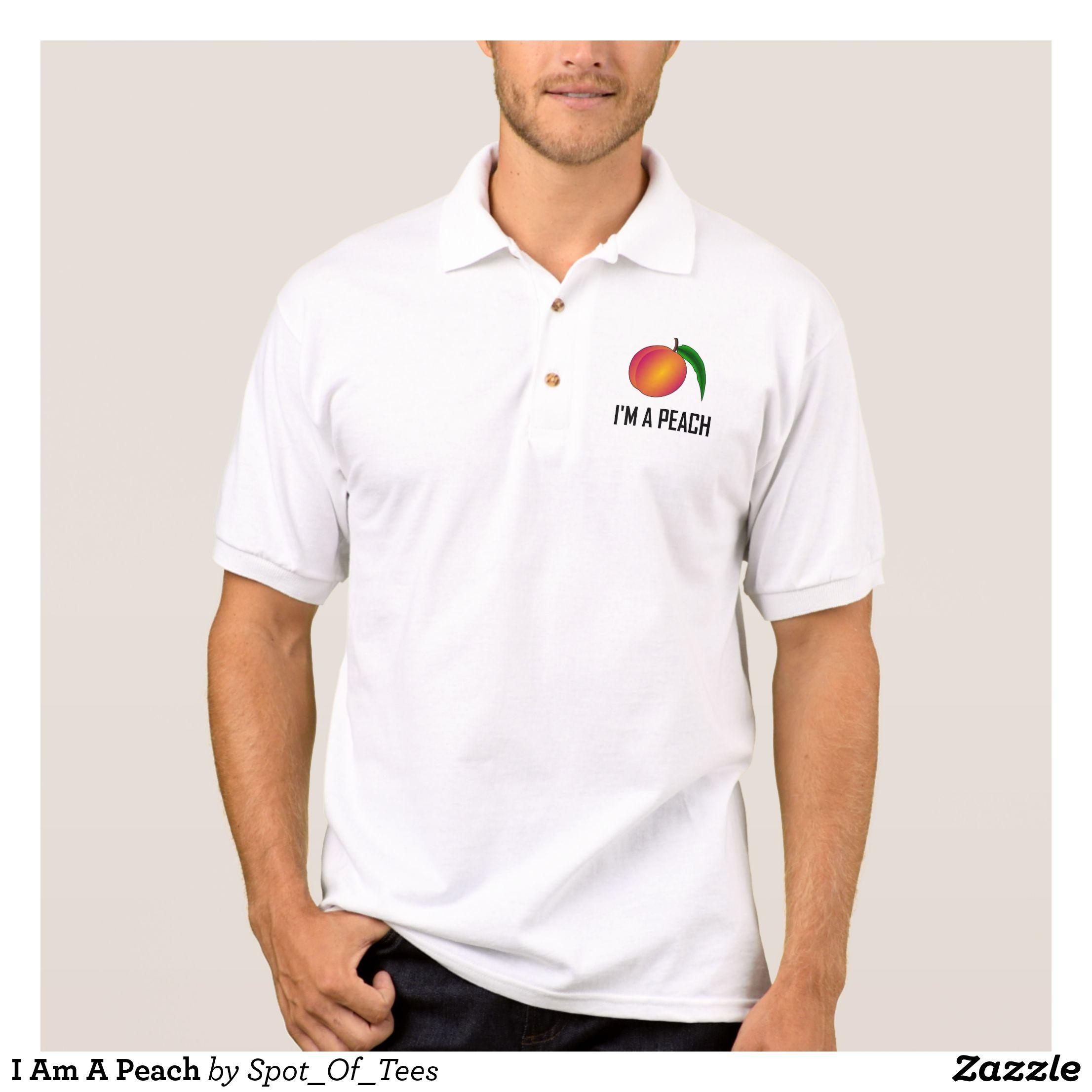 I Am A Peach Polo Shirt Cool And Comfortable G Mens Polo