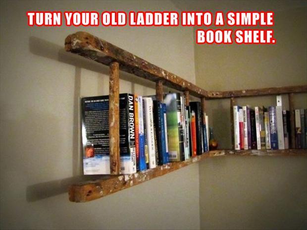 Do It Yourself Bookshelf Ideas: Simple Do It Yourself Craft Ideas - 52 Pics