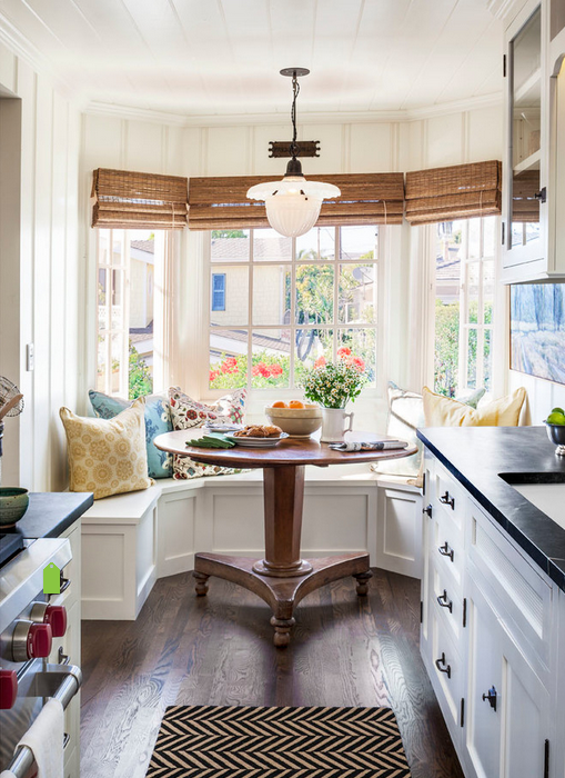Benched Seating In The Bay Window Makes For Perfect Breakfast Nook A Kitchen