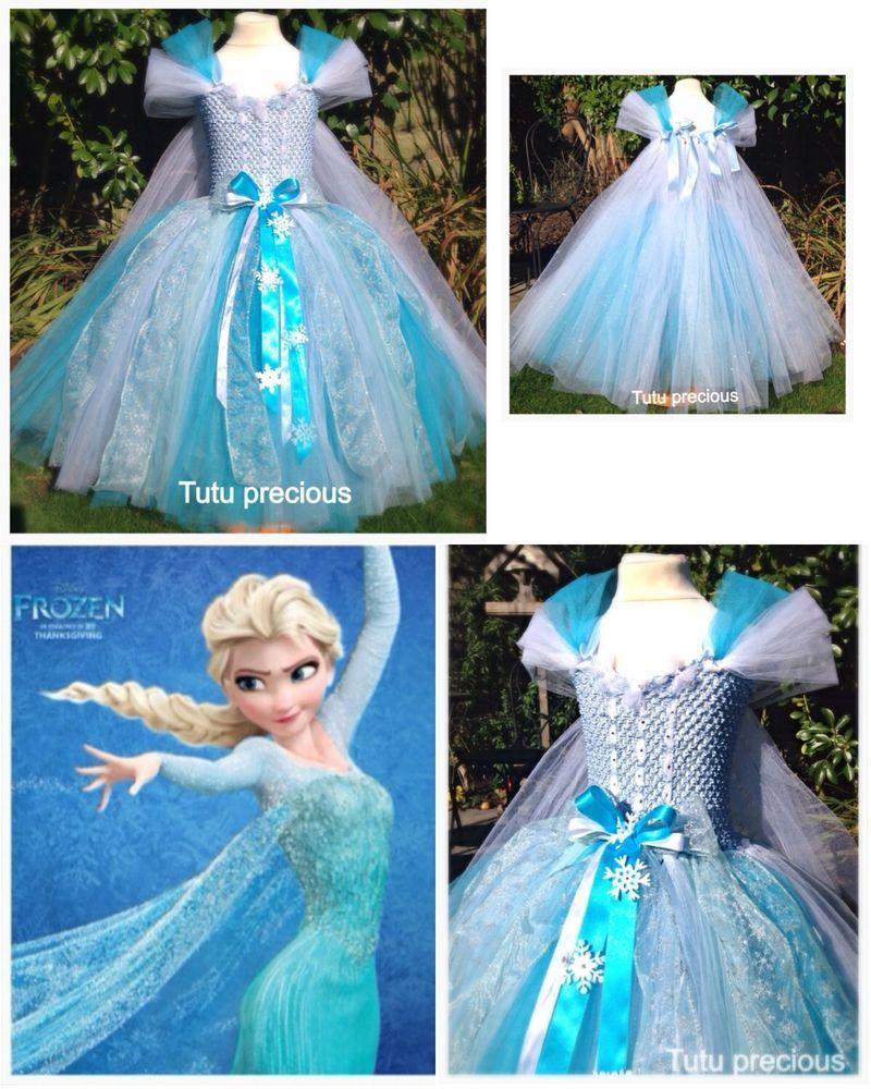 Elsa (Frozen) Inspired Tutu Dress - Dressing up / Costume | Tutu ...