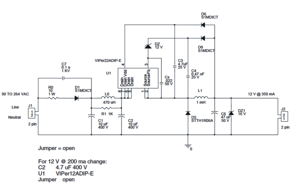 1w 4w 6w 10w 12w Led Driver Circuit Smps In 2020 Led Drivers Led Circuit