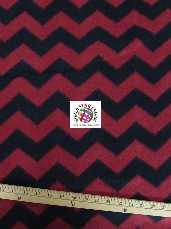 Purple/Yellow Chevron Zig Zag Anti-pill Fleece Fabric By David ...