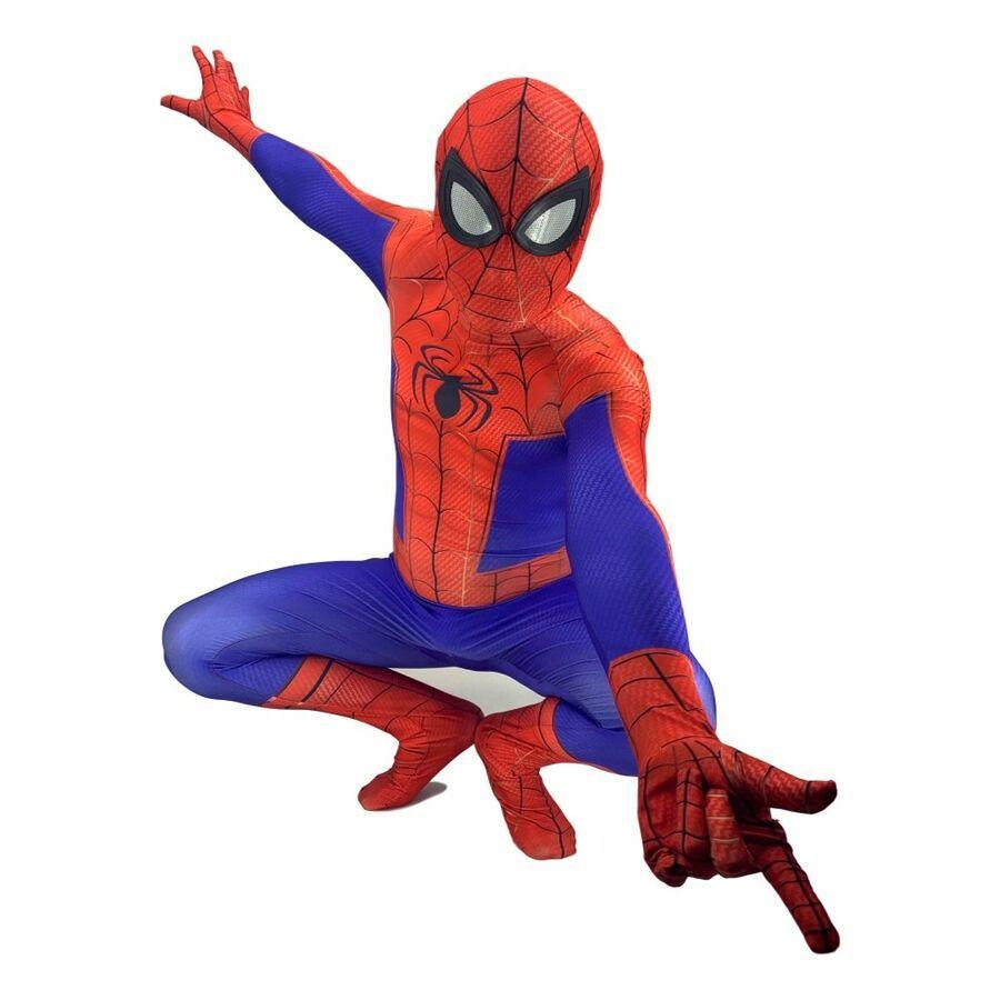 Spider-Man Into the Spider-Verse Peter Parker Cosplay Costume Spiderman Bodysuit