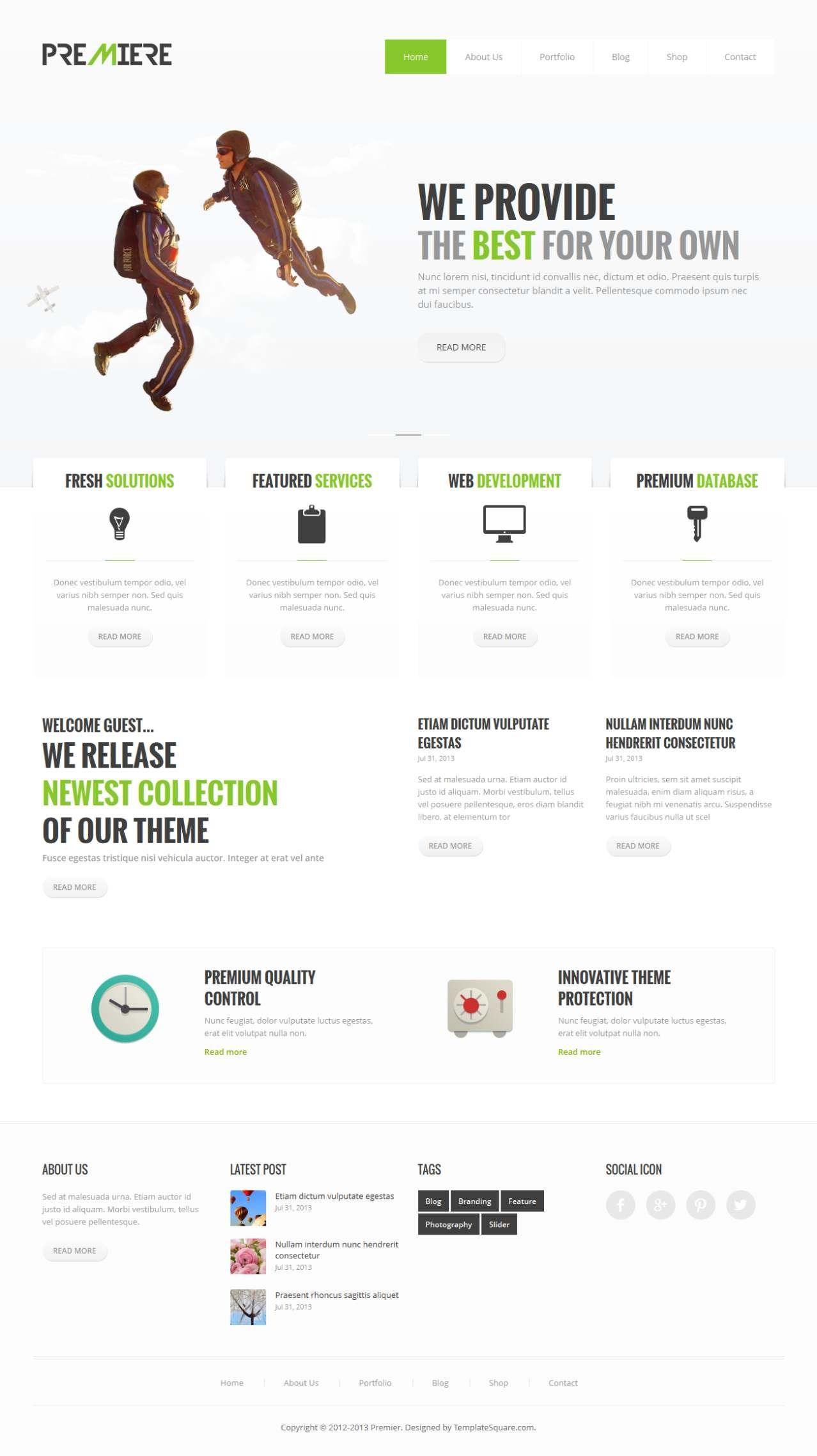 Premiere – Corporate Business WordPress Theme #best_wordpress_themes_2013
