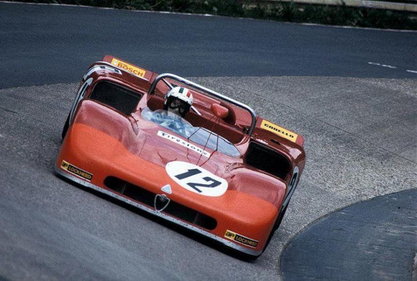 The great Nino Vaccarella, Alfa Romeo T33/3. 1000Km Nürburgring 1971
