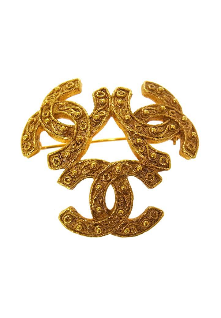Chanel Baroque Triple Brooch Chanel Brooch Vintage Brooches Chanel Accessories