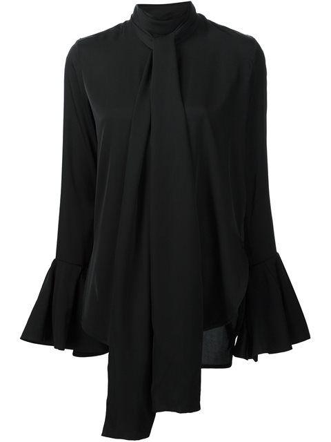d41f095c835d56  ellery  cloth  绑带罩衫 Black Silk Blouse