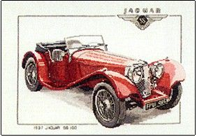 1937 Jaguar Ss1000 Counted Cross Stitch Kits Cross Stitch Kit Cross Stitch