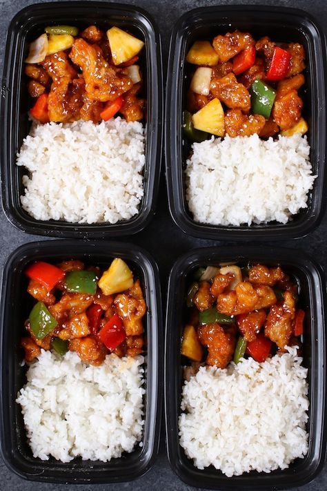 Sweet and Sour Chicken Meal Prep - TipBuzz